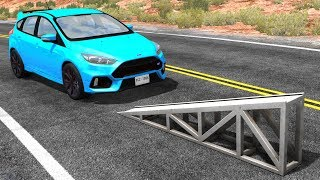 High Speed Flip Ramp Crashes #18 - BeamNG Drive Crash Testing
