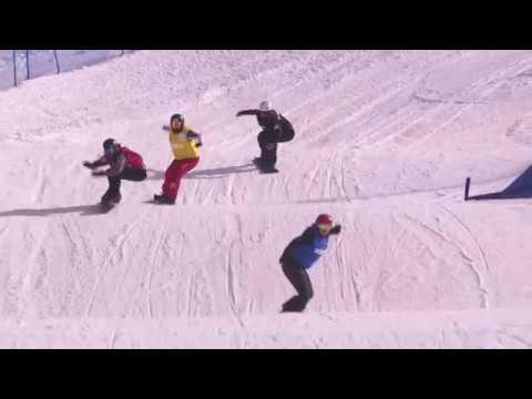 Cardrona 2018 JWC snowboard cross big finals | FIS Snowboard