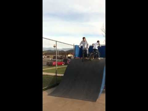 Clearing the box at the Spearfish, SD skate park