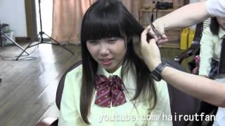 刈り上げJK 3  ☆ High School Girl Haircut  Long To Short 断髪