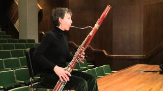 Producing staccato on bassoon