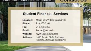 UCCS Student Financial Services Orientation
