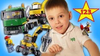 Лего Экскаватор Транспортёр 4203 распаковка и обзор Lego Excavator Unboxing