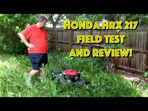 Honda HRX 217 Self-Propelled Gas Lawn Mower – Field Test & Review