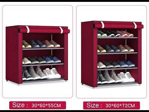 Тканевый стеллаж полка для хранения обуви DIY