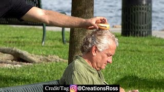 Secretly Putting Cheeseburgers on People's Heads