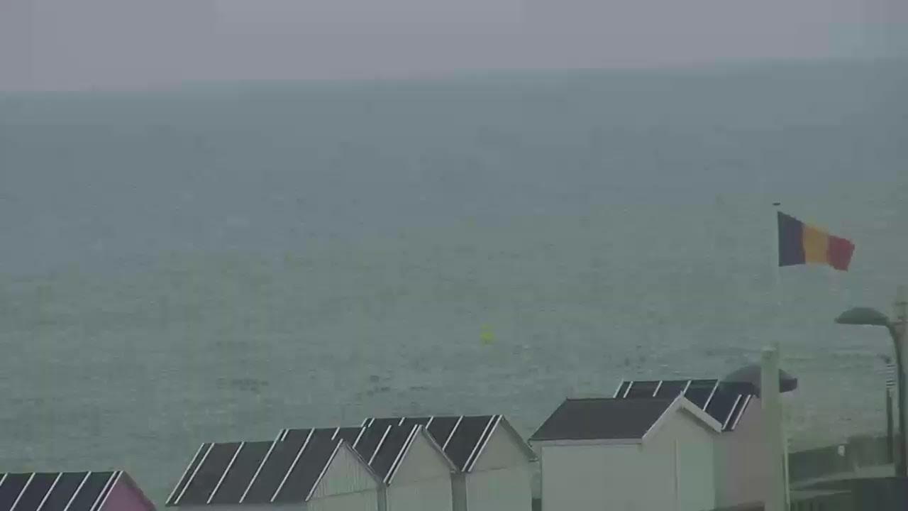 Webcam en direct de la Plage de Saint Aubin sur Mer, la plus grande plage de sable, à marée basse, de la côte d'Albâtre