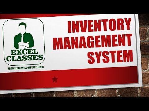 excel classes- inventory management system | inventory control ...