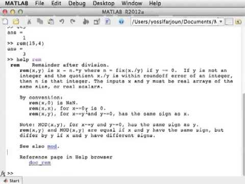 Lecture 1: Using MATLAB for the First Time | Videos