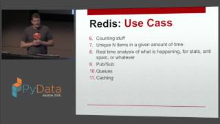 Dave Nielsen: Top 5 uses of Redis as a Database | PyData Seattle 2015