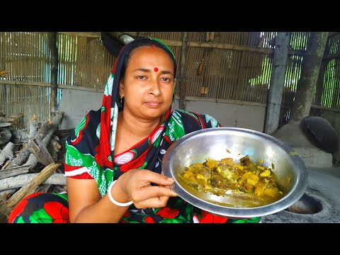 Village Kitchen – Elephant Foot Yam with Tilapia Fish Curry Cooking Recipe in Clay Oven