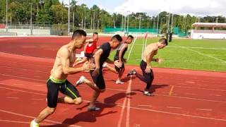 100M & 200M sprint full workout drills#Evans Road stadium#2015