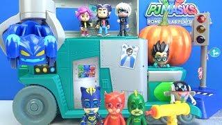Romeo Laboratuvarında Pijamaskeliler Araçlarını Tuzağa düşürüyor Pjmasks oyuncak Romeo's Lab Playset