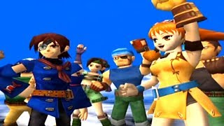 SKIES OF ARCADIA (dreamcast) opening intro and gameplay