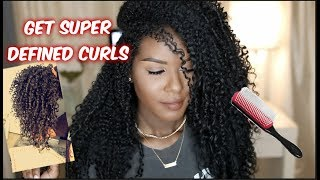 Get Defined Bouncy Curls w/ the Denman Brush