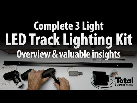 Complete 3 LED Light Track Lighting Kit Overview & Valuable Insights - Lightfair 2017 Ep.3