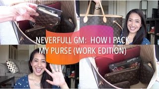 LV Neverfull GM: How I Pack My Purse (Work Edition) | May 2015