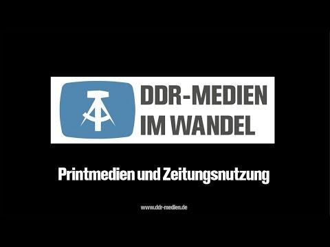 Printmedien und Zeitungsnutzung - DDR Medien