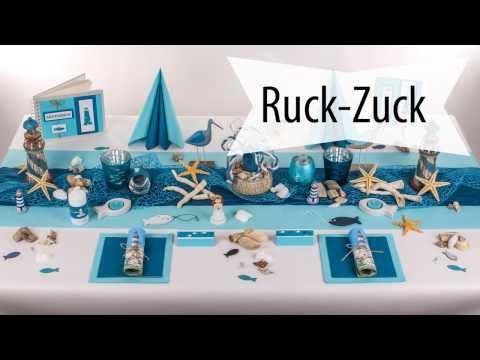 Maritimer Mustertisch zur Erstkommunion - Ruck-Zuck Anleitung