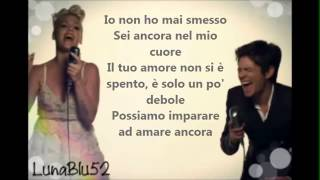 Pink Ft Nate Ruess   Just Give Me A Reason Traduzione