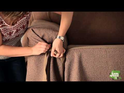 Sofa-Husse mit Schleifen