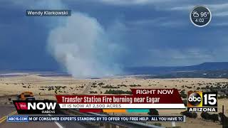 Wildfire burning in eastern Arizona scorched 2,500 acres