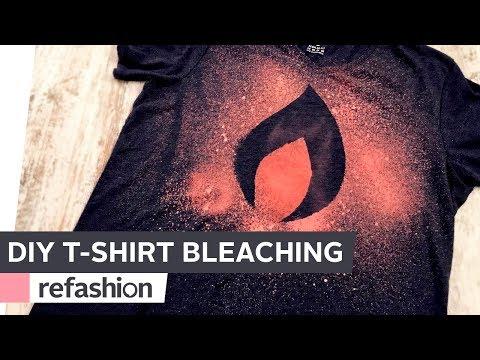 DIY: T-Shirt-Druck mit Bleichmittel ~ refashion   OTTO