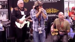 Working Man blues - Just Dave Band at Seydel Booth NAMM