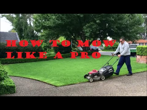 [How To Mow A Lawn] Like A Pro - Lawn Mowing Tips For A Great Looking Lawn - Lawn Care Tips