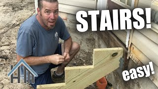 How to build stairs. Install stringers and treads