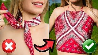 DIY Clothes Hacks & Fashion Tricks! Reuse Old Clothes!
