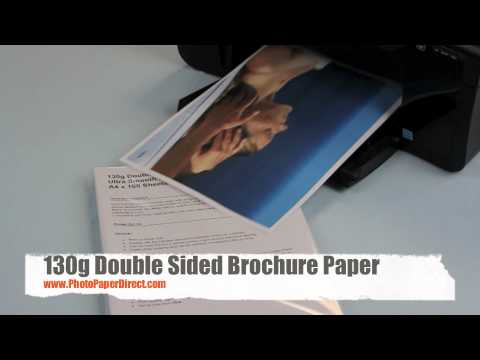 130g Double Sided Brochure Paper
