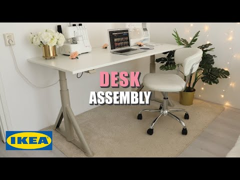 DIY IKEA IDÅSEN Sit/Stand Desk Assembly WITH Thyge Tabletop