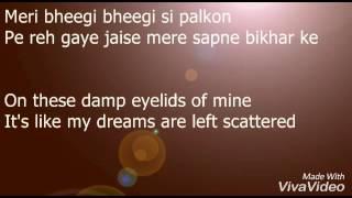 Mari Bheegi Bheegi Si with lyrics - YouTube