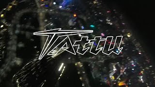 FPV Drone Night Flying Over the City with Tattu Power