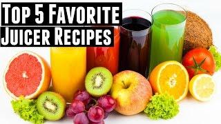 My 5 Favorite Juicer Recipes For ENERGY   Green Juice, Fruit Juice, & Vegetable Juice