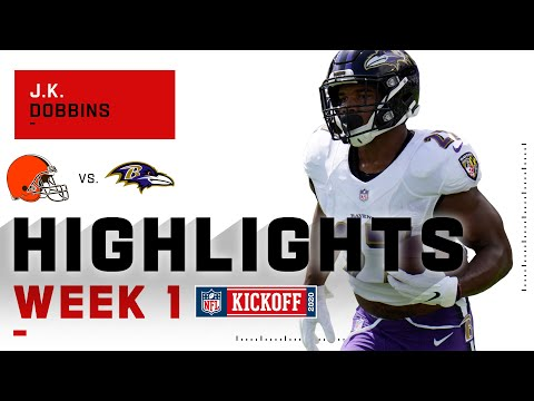 J.K. Dobbins Begins NFL Campaign w/ Impressive Two Touchdown Day | NFL 2020 Highlights