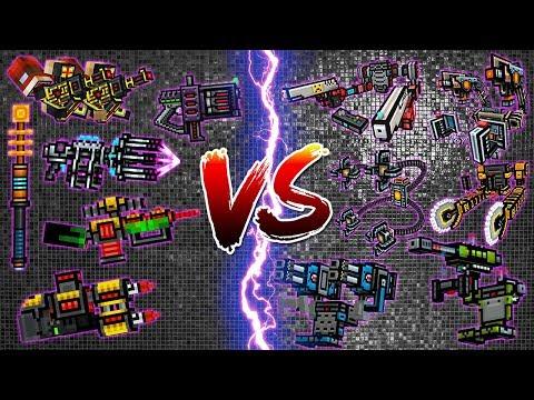 Pixel Gun 3D - Cyber Weapons VS Exoskeleton Weapons