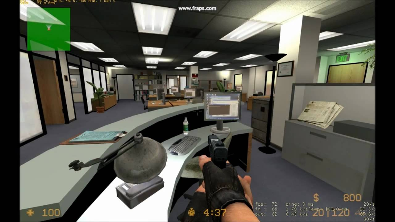 Someone Turned TV's The Office Into A Counter-Strike Map
