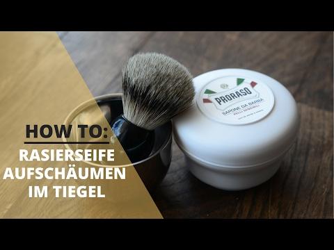 How To: Rasierseife aufschäumen mit Rasierpinsel (im Tiegel)