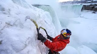 Ice Climbing Frozen Niagara Falls - Will Gadd's First Ascent