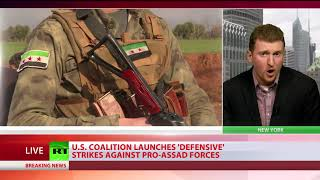 US-led coalition conducts 'defensive' airstrikes against Syrian forces