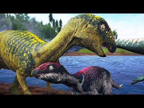 Massiva Família de Dryossauro, Pequenos Dinossauros, Predadores | The Isle Semi-Realismo | (PT/BR)