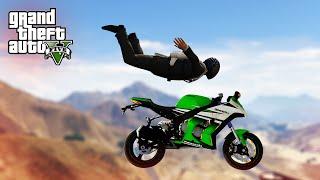 IMPOSSIBLE SKYDIVE STUNT! - (GTA V Stunts & Fails)