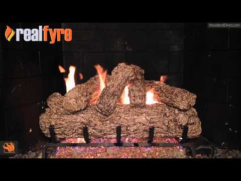 Real Fyre Rustic Oak Vented Gas Log Set