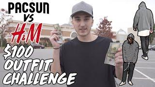 $100 OUTFIT CHALLENGE   PACSUN VS H&M!