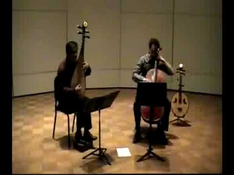 "Radiohead - ""Hunting Bears"" -  Chinese Pipa cover with cello by Mike Block & Yang Wei"