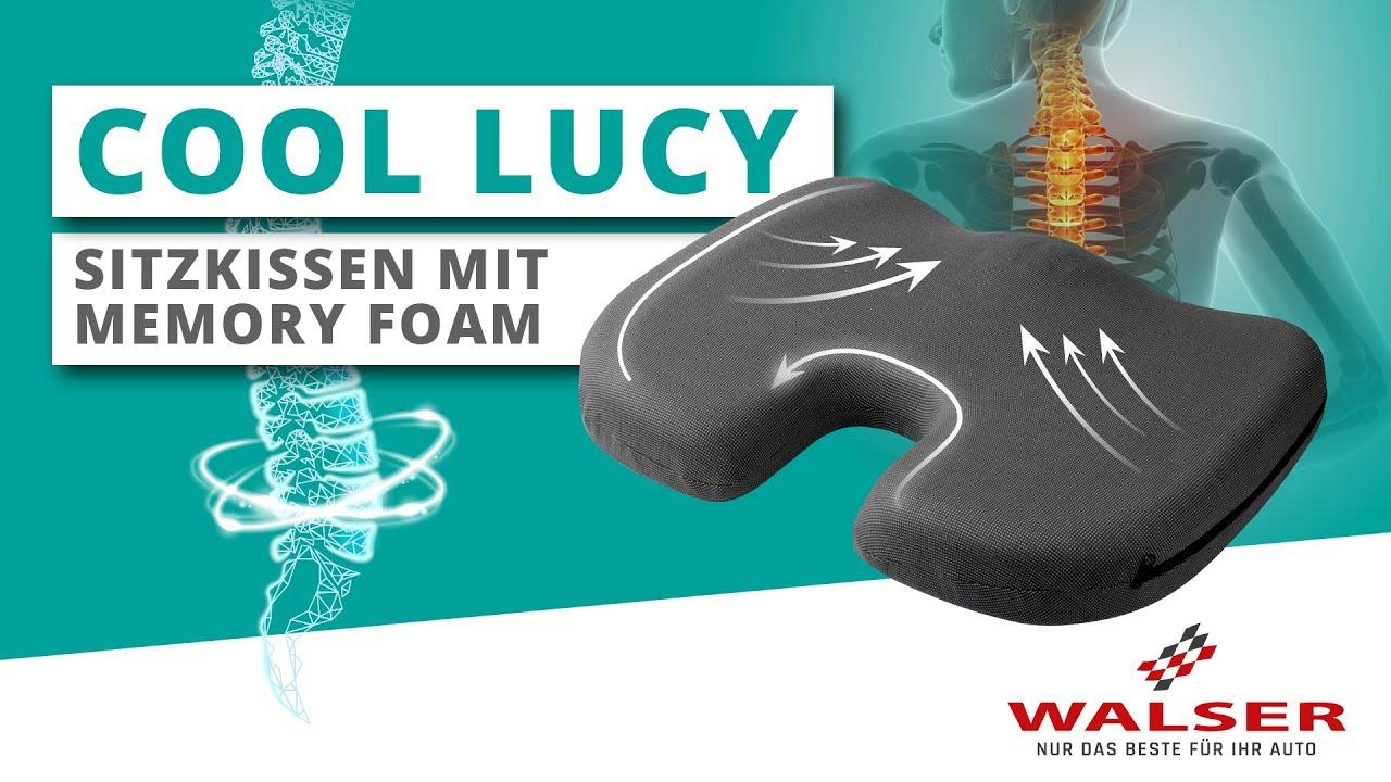 Vorschau: Sitzkissen Cool Lucy mit Gel schwarz