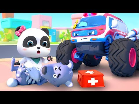 going to the doctor monster ambulance nursery rhymes kids so