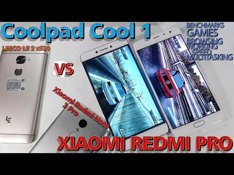 LeEco Coolpad Cool1 vs. Xiaomi Redmi Pro (Игры, браузинг, бенчмарки, тесты)